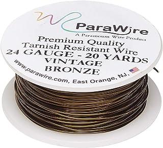 ParaWire 复古青铜饰面铜工艺线 24 号 20 码(约 60.9 米) 带透明保护涂层