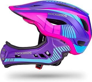 ROCK BROS 儿童自行车头盔 幼儿全脸头盔 可拆卸超轻山地自行车骑行头盔 适合 BMX 自行车滑板车儿童*头盔