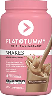 Flat Tummy Tea Shake 4 Week Meal Replacement Pack with Clinically Studied Garcinia Cambogia, Chocolate, 34.1 oz