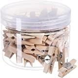 *受欢迎的推销 带木夹 推销 套头 软木板 艺术品 笔记 照片 工艺品 办公室和家庭 50 个装 木质