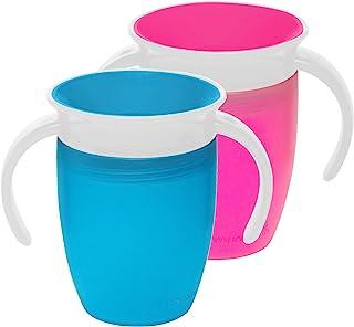 Munchkin Miracle 360 训练杯,粉色/蓝色,7 盎司,2 只装