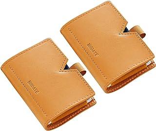 信用卡钱包真皮卡套 极简钱包 RFID 屏蔽口袋 信用卡包 男女皆宜 棕色/棕色