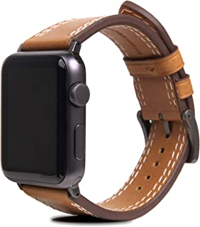 SLG Design Apple Watch 表带 44毫米 42毫米 皮革 意大利 苹果手表 表带 Series 6 / Series SE/Series 5 / Series 4 / Series 3 / Series 2 / Series...