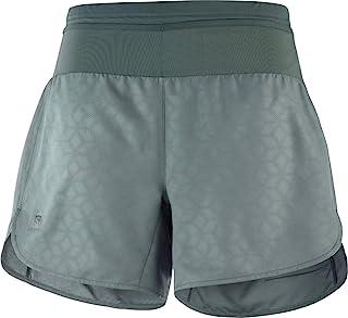 Salomon 女士 XA 2 合 1 运动短裤 带内裤