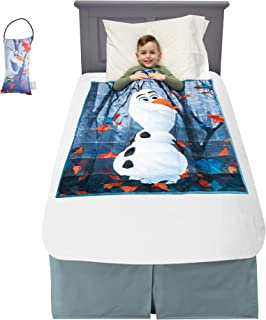"Franco 加重毯子带门把手枕 Disney Frozen 2 Olaf 36"" x 48"" 4.5lbs A49238"