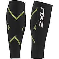 2 X U 女士压缩小腿护具 黑/明绿 小号
