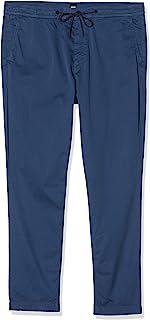BOSS 男士 Sabriel 1 锥形修身长裤,由弹性棉斜纹布制成,带抽绳。
