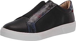 MARC JOSEPH 纽约儿童男孩/女孩皮革巴西制造一脚蹬弹性细节运动鞋