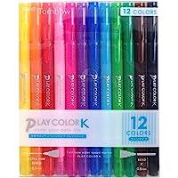 TOMBOW蜻蜓铅笔 水性笔 PLAY COLOR K 12色套装