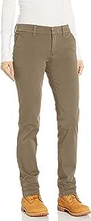 dickies 女士完美型直筒斜纹裤