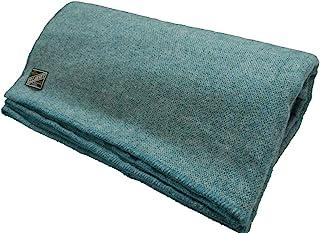 Biddy Murphy Lambs 羊毛毯爱尔兰制造羊毛毯大号尺寸 228.60 cm 宽 x 274.32 cm 长羊毛棉被毯子羊毛柔软由 Co. Kerry Woollen Mills Teal 制作