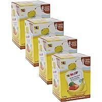 HiPP 喜宝 婴儿水果谷物流食 适用于4月以上婴儿,苹果/香蕉/婴儿饼干味,纯Bio水果/无添加糖,4盒/每盒4袋/每…