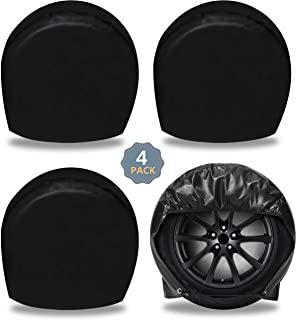 EcoNour 轮胎盖适用于汽车、卡车、小货车、拖车、房车等。| 车轮保护适用于直径 24 英寸 - 26.5 英寸(约 61 - 67.1 厘米) | 防水车轮盖可防止雨天、日晒并减少轮胎老化(4 件装)