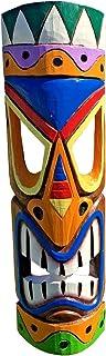 50.80 cm 多色充满活力的夏威夷海滩卢阿风格墙壁装饰 Tiki 面具!