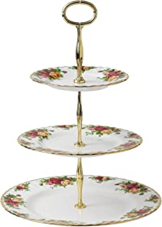 Royal Albert Old Country Roses 3 层蛋糕台