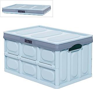 DuraBox 可折叠折叠储物箱 - 可堆叠容器适用于家庭和办公室(30升,1包,浅蓝色)