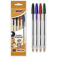BiC Cristal Original 1.0 毫米圆珠笔 可重新填充 4片装 多种颜色
