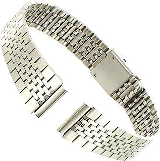 13 毫米米兰拉丝不锈钢可调节扣女士表带长