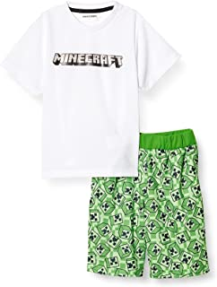 MAINCraft 睡衣套装 Minecraft 儿童 家居服 F2131Y 白色 130厘米