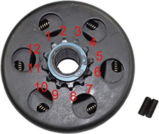 Parts Club Go Kart 离合器 12 齿 3/4 英寸(约 1.9 厘米)孔 #35 链子 适用于 212 铁血战士离合器 6.5 马力适用于本田 GC GX 适用于敞篷车/迷你自行车(带 2 个螺栓)
