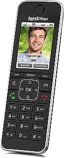AVM Fritz!Fon C6 黑色 DECT 舒适电话(高品质彩色显示屏,高清电话,网络/舒适服务,控制Fritz!盒子功能)黑色,德语版