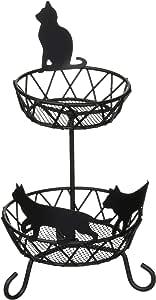 Abeille 饰品收纳 托盘 2层 猫 黑色 ACW-1334