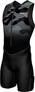 Sparx X 铁人三项套装男式赛车三项骑行皮肤套装自行车游泳跑步(黑色迷彩,M 码)