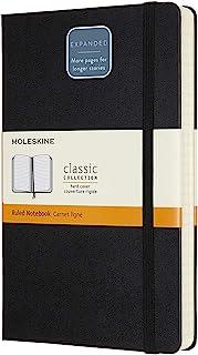 Moleskine 古典 笔记本书 EX-潘德(400页) 硬盖 大尺寸 黑色 横格 QP060EXP