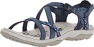 Skechers 女式 regga 修身 KEEP CLOSE 角斗士凉鞋