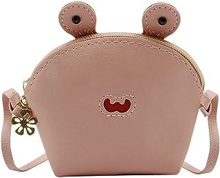 RARITYUS 儿童可爱青蛙钱包斜挎包迷你卡通单肩手提包钱包适合幼儿男孩女孩 粉红色 均码