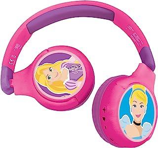 Lexibook HPBT010DP 迪士尼公主 2 合 1 蓝牙耳机,适合儿童立体声无线电线,儿童*,适合儿童,可折叠,可调节