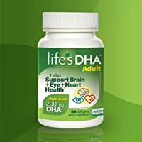 Life's DHA 全素食DHA膳食补充剂 来自自然植物来源 200毫克DHA Omega-3   60粒软胶囊 新老…