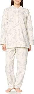 Wing/Wacoal 睡衣套装 宽松&利落 漂亮的轮廓 睡衣 长袖・长裤 叶子图案 EP6081 女士