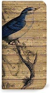 Mitas HUAWEI 华为 GR5 手机壳 手账型 无带 木纹 木纹 wood 鸟 A (211) NB-0296-A/GR5