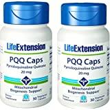 Life Extension PQQ 帽,五氯五金醇,20 毫克 30 粒素食者胶囊。 2 瓶装。