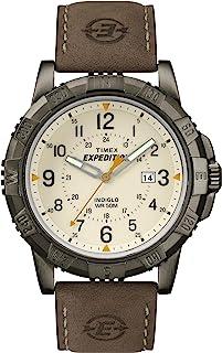 Timex 天美时 Expedition男士石英手表指针表盘配棕色皮革表带T49990