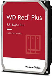 Western Digital 西部数据 10TB WD Red Plus NAS 内置硬盘 - 7200 RPM 级别,SATA 6 Gb/s,CMR,256 MB 缓存,3.5 英寸 - WD101EFBX