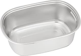 远藤商事 业务用 椭圆形洗桶 18-8不锈钢 日本制造 AAL02