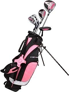 Left Handed 粉色青少年高尔夫球杆套装,适合 6 至 8 岁儿童