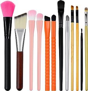 Beauty Basic 眼部化妆刷 腮红 高光 遮瑕刷 适用于眼影粉底腮红和遮瑕膏 12 件套