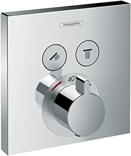 Hansgrohe 汉斯格雅 Showerselect 嵌入式淋浴开关 铬白 2 Verbraucher