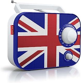 Muse 便携式双频段收音机 超短波/中波 模拟器 MP3 AUX-IN 手柄 Union Jack