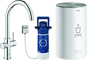 Grohe 高仪 30058001 | 红色 2.0 Duo 水龙头 | 4 升热水贮槽