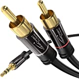 kabeldirekt 0.5米 Y Adapter CABLE 3.5 mm MALE > 2 rca MALE…
