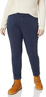 Dickies 女士完美塑形斜纹紧身 4 口袋长裤