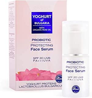 Biofresh *保护面部精华 SPF 20,含*玫瑰油,保加利亚酸奶,35毫升 BF-YO-FACESerum-35-1x