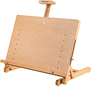 MEEDEN 大号画板画架,实心山毛榉木桌面 H 框可调节画架艺术家绘画和素描板,适合艺术家、青少年和画家,可容纳高达 23 英寸(约 58.4 厘米)