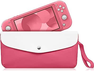 Fintie 手提包适用于 Nintendo Switch Lite 2019 - 便携式旅行包保护套袋,带侧袋和游戏卡槽和支撑带,适用于 Nintendo Switch Lite 和配件