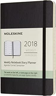 Moleskine 2018年12个月经典软面周记本 黑色 (口袋型)