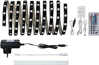 Paulmann 柏曼 70512 YourLED 灯条基本套装 3 米 RGB LED 灯带 IP44 防溅 黑色 透明 涂层 17.8W 550 流明 120 LED 230/12V 24 VA